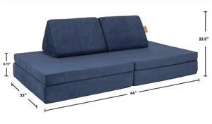 The Nugget Comfort Kids Play Sofa Fort Couch - Blueridge / Same Day Free Ship