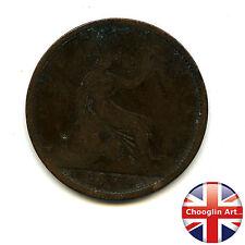 A British Bronze 1874 H VICTORIA PENNY Coin (Heaton)            (Ref:1874_49/50)