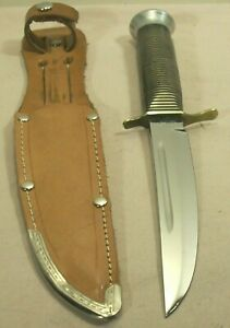 1950s~JOWIKA~BRASS BEAUTY~MINT CONDITION~HUNTING & FIGHTING KNIFE w/ORIG. SHEATH