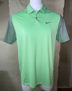 Nike Tiger Woods Collection Dri-Fit Vented Polo Shirt Mens Large Snap Buttons