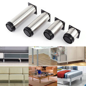 6-18cm STAINLESS STEEL REPLACE HOME FURNITURE FEET LEGS SOFA BEDS CHAIRS STOOLS