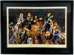 Rolling Stones Ronnie Wood Hand Signed 'B Stage' Limited Edition Print