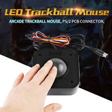 4.5cm Illuminated Arcade Game LED Round Trackball Mouse PS/2 PCB Connector Black