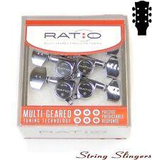 Graphtech PRN-4311-C0 Ratio Tuned Tuners/Machine Heads 45º 3x3 chrome