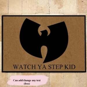 Wu Tang Doormat, Watch Ya Step Kid Wu Tang Doormat Rug, Wu Tang Watch Ya Step Ki