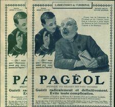 Publicités anciennes pharmaceutiques aux choix Pagéol 1915 issues de magazine
