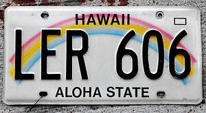 """Hawaii """"Rainbow"""" License Plate """"Aloha State"""" L = Maui County"""