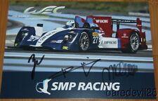2014 SMP Racing #27 Nissan Oreca LMP2 signed COTA FIA WEC postcard