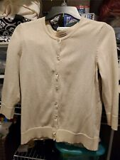 Croft & Barrow Women's 3/4 Sleeve Open Front Button Sweater Cardigan Size Small