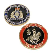 RCMP Police Challenge Coin Royal Canadian Mounted Police Crest GRC Gold