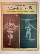 Vintage Canadian Entertainment Newspaper - The Montreal Star 3 May 1969