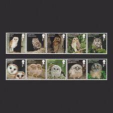 2018 Owls Mint Stamp Set