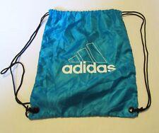 adidas Drawstring Bag Backpack Bookbag Athletic Gym Black and Teal