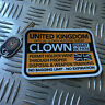 CLOWN HUNTING PERMIT sticker united kingdom 110 x 80mm killer clown