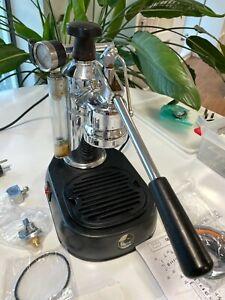 La Pavoni Europiccola Espresso Coffee Machine, tamper & 2 portafilters.