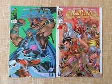 Comics, WildC.A.T.s Vol. 2, nº 5 y 7, Image, WildStorm, World Comics, 1997-98