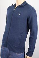 Polo Ralph Lauren Blue Full Zip Track Jacket White Pony NWT $115
