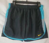 Nike Women's Size Medium Black Blue Athletic Shorts