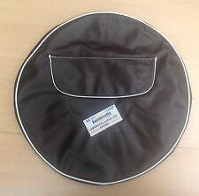 LAMBRETTA & VESPA BROWN SPARE WHEEL COVER  INC POCKET WITH ZIP . 10 INCH WHEELS