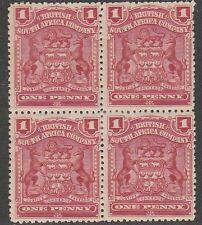 KAPPYSSTAMPS 222 BRITISH SO AFRICA RHODESIA SC #60 ROSE MH BLOCK