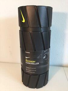 """NIKE 13"""" Recovery Foam Roller. Black W/Neon Green. Orig. $40.00. NEW."""