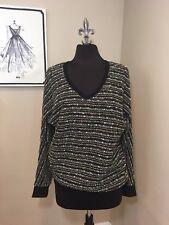 Sanctuary Sweater NWT Black Multi Color - Medium $89