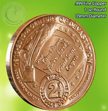 """""""TRILLION"""" Design AOCS 1 oz .999 Copper Round Very Limited and Very Rare"""