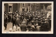 Newark - Lombard Street Parade - plainback real photographic postcard size card