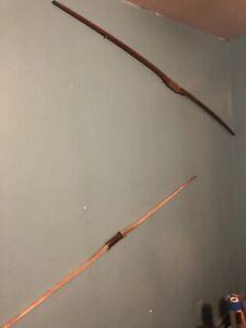 (2) Vintage Antique Takedown Longbow