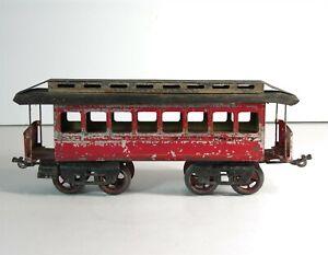 1890s JEAN SCHOENNER RAILROAD MODEL TRAIN PASSENGER CAR 1 GAUGE VERY RARE