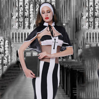 The Sexy Nun Uniform Jumpsuit Set Cosplay Theme Party Halloween Costume outfit