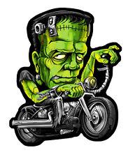 Frankie's Sled  Frankenstein's IRON ON 4 INCH MC BIKER PATCH