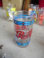 Vintage 1970s Collector Glass  Pepsi Cola
