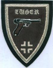 German Army Luger Gun Pistol Auto Unit Crew Officer War Battle Cross Patch 9 MM