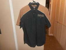 "Harley Davidson Button Front ""110th Anniversary"" 100% Cotton Shirt XL Mint"
