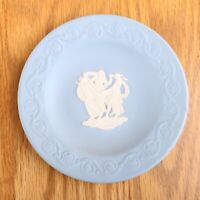 Wedgwood Jasperware Lite Blue Small Round Plate Women Dancing