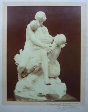 1896 - E. FIORILLO - ALBUMEN PRINT - sculpture de Léo Laporte-Blairsy - SIGNED