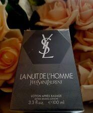 """❤️Yves Saint Laurent La Nuit De L'Homme after shave 100ml / 3.4oz  2009"""" 8YBO2-1"""