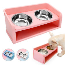 Raised Dog Bowl Stand for Large Dogs Medium Double Bowls Water and Food Feeder