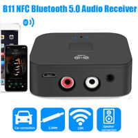 B11 NFC Bluetooth 50 Music Receiver Wireless Audio Hands-free Call Adapter 3.5mm