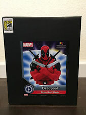 SDCC Comic Con Marvel DEADPOOL Dead pool movie Resin Bust bank New in box