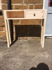 H80 W84 D20cm BESPOKE UNTREATED CONSOLE HALL PLANT TELEPHONE TABLE CHUNKY