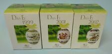 Hutschenreuther - Das Ei - Ostern 3 Stück - 1999, 2001, 2002 -  #14730