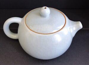 Collectable Ruyao Ceramic Grey Green Tea Pot Xishi Porcelain 120ml
