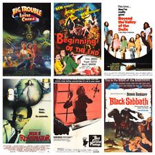 Horror Film Poster A3 Vol.1 Vintage 50s 60s 70s 80s 90s Wall Decor Pub Club Room