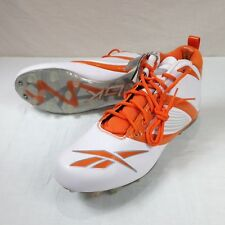 Mens Reebok Football Cleats NFL Low Athletic Shoes  Size 15 Orange White