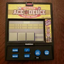 Between Ace Deuce Red Dog Poker by Radica Vintage Electronic Hand Held Game
