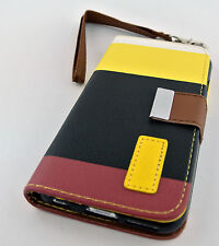 """MULTITONE SOFT LEATHER CARD POUCH CASE COVER STAND APPLE IPHONE 6 6S 4.7"""""""