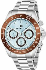 """Henry Jay Mens SS """"Specialty Aquamaster GMT Tachymeter Display Watch"""