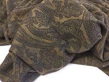 "New Designer Shelly Wool Paisley Print Fabric 55"" 140cm Cloth Material Garment"